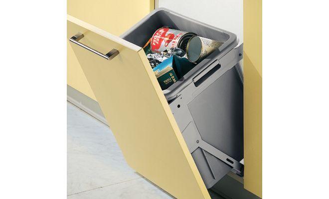 Afvalbak Keuken Inbouw : inbouw afvalemmer met een kantel systeem – 30 liter